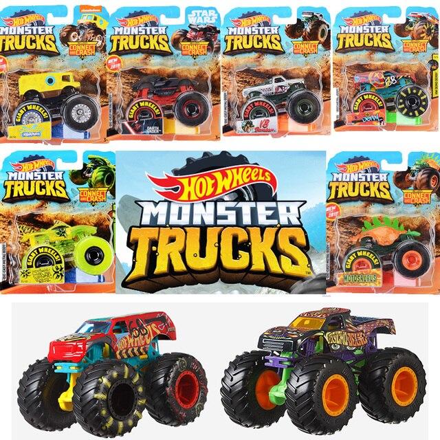1:64 Original Hot Wheels Giant Wheels Crazy Barbarism Monster Metal Model Car Toy Hotwheels Big Foot Car Children Birthday Gift