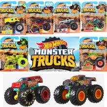 1:64 ruedas calientes originales, ruedas gigantes, monstruo de La barbería loca, modelo de Metal, Hotwheels, coche de Pie Grande, regalo de cumpleaños para niños