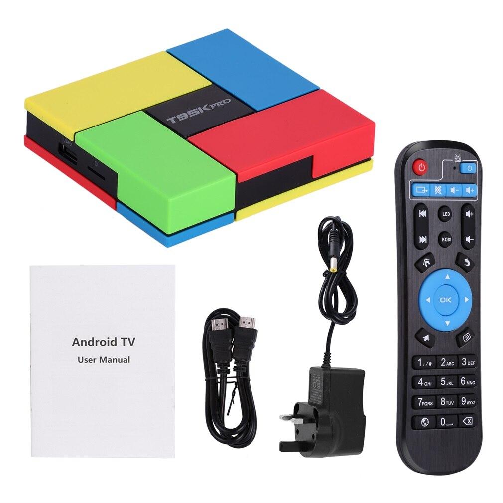 T95KPro Android 6.0 TV BOX Octa Core S9122 2GHZ 2G/16G H.265 4K 3D 2.4G/5G Dual WiFi BT4.0 1000M Giagabit Lan