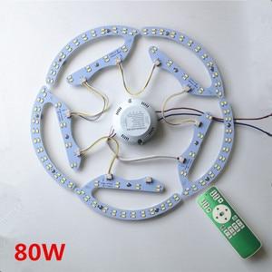 Image 3 - Yeni 48W 64W 80W AC180 265V yuvarlak manyetik LED tavan ışık LED kurulu paneli dairesel tüp ışıklar ile 2.4g uzaktan kumanda bellek