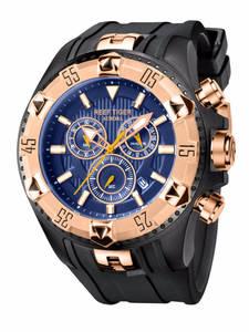 Мужские спортивные часы Reef Tiger/RT, кварцевые часы с хронографом и большим циферблатом, суперсветящиеся Стальные дизайнерские часы RGA303