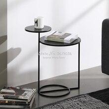 Современный скандинавский журнальный столик, модный столик, двухслойный журнальный столик, металлический стол, мебель для дома, современны...