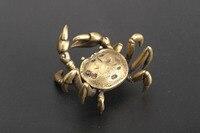 Hengcai geral caranguejo bronze ornamento pendurado artesanato coleção|Estátuas e esculturas| |  -
