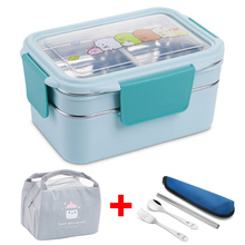 Lunch-Box Bento Japanese-Style Picnic Stainless-Steel Kids Portable School Cartoon
