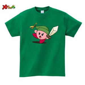 Tops Zelda T-Shirt Girls Cotton Children's Kids Summer Cool White Casual Legend Game