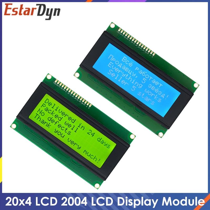 ЖК дисплей 2004, ЖК монитор 2004 20X4 5 В, символьный синий экран с подсветкой, ЖК дисплей 2004, светодиодный синий/желтый зеленый для ЖК дисплея arduino ЖК-модули      АлиЭкспресс