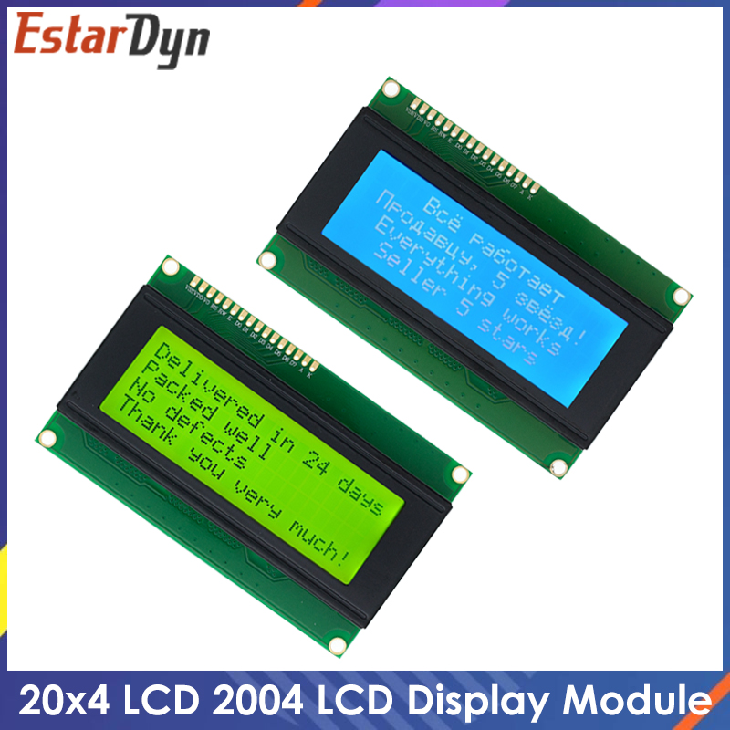 ЖК-дисплей 2004, ЖК-монитор 2004 20X4 5 В, символьный синий экран с подсветкой, ЖК-дисплей 2004, светодиодный синий/желтый зеленый для ЖК-дисплея arduino