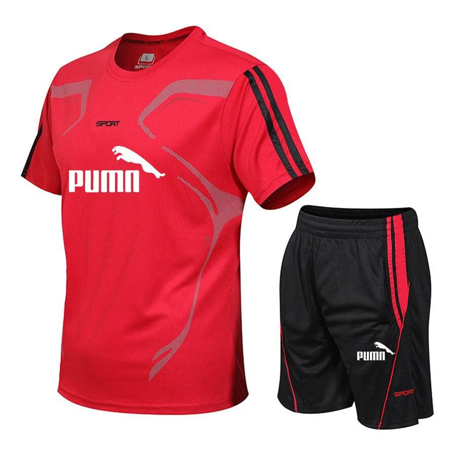 running - Brand men's sportswear suit GYM fitness clothing football training set jersey jogging men's suit running sportswear sports suit