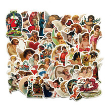 50Pcs Retro Cupid Little Angel Stickers for Laptop Car Scrapbooking Phone Motorcycle Luggage Decal Toys for Children PVC Gift