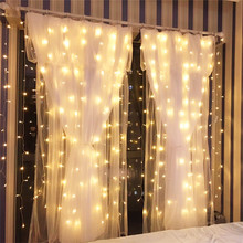 Led Curtain Lights LED Garland Curtain Waterfall Lights Led String Lights Christmas Decor