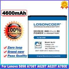LOSONCOER BL212 4600mAh Bateria Para Lenovo S898 A708T A858T A780E A628T A620T A688T A785E S8 S898T Bateria