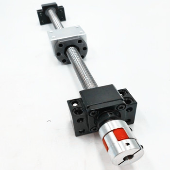 1pcs 20mm diameter Rolled Ball Screw SFU2010 L=200mm C7+1pcs SFU2010 ball nut+1set BK/ BF15Ballscrew end support for CNC parts