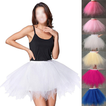 Tulle Skirts Womens High Quality Elastic Stretchy Tulle Teen Layers Summer Womens Adult Tutu Skirt  Pleated Mini Skirts недорого