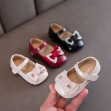 Autumn Female Baby Leather Shoes Bow Princess Shoes Infant Leather Shoes Children Shoes