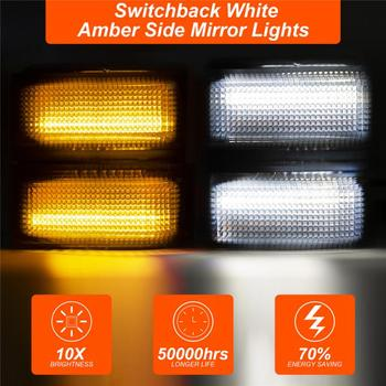 Side Switchback Marker Marker & Turn Signal Light For 2008-2016 F250 F350 F450 F550 Super Duty Running Light Turn Signal 1