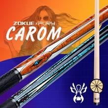 Zokue carom cue 10 шт в 1 вал 3 подушки кий 118 мм наконечник