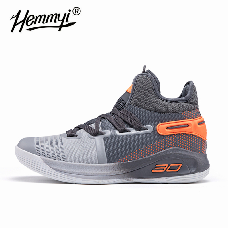Hemmyi Outdoor Sports High Top Basketball Shoes Anti-slip Proffessional Unisex Men Women Sneakers Breathable Trainer Seven Color