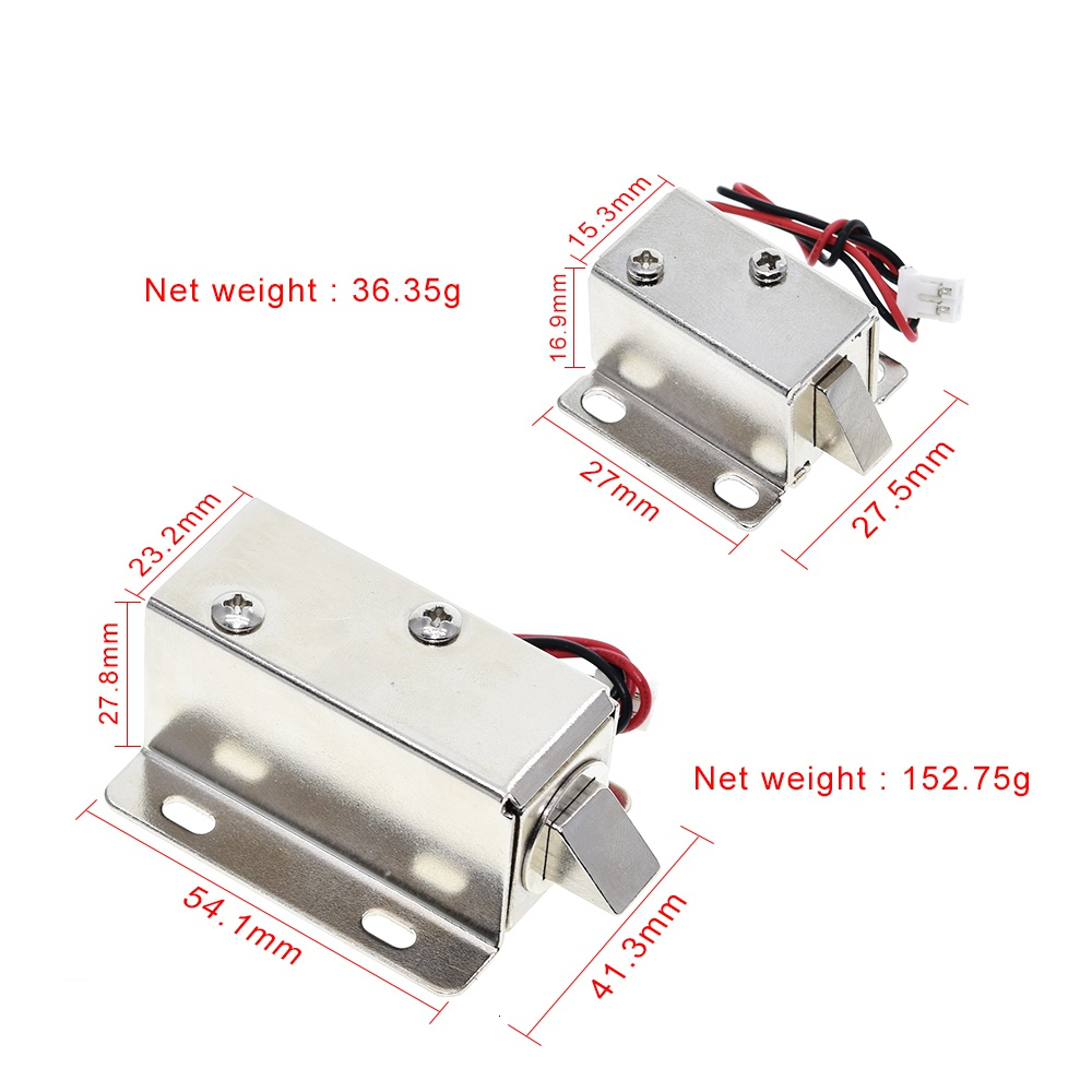 DC12V 0.35A 0.6A small electromagnetic lock storage cabinets electronic lock mini electric bolt lock drawer file cabinet lock