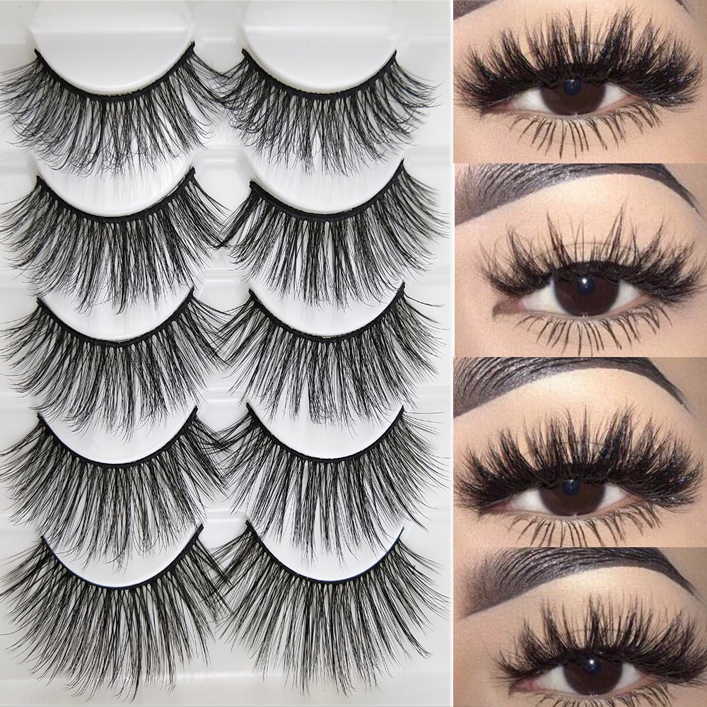 La Milee 5 Pairs Natural False Eyelashes Fake Lashes Long Makeup 3d Mink Lashes Eyelash Extension Mink Eyelashes For Beauty