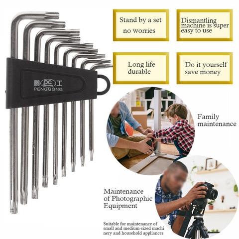 9 Pcs High Quality Cheap Hex Key Set Wrench Cycling Repair Screwdriver Tools Kit Dropship spanner Suit repair bicycle Hand tools Multan
