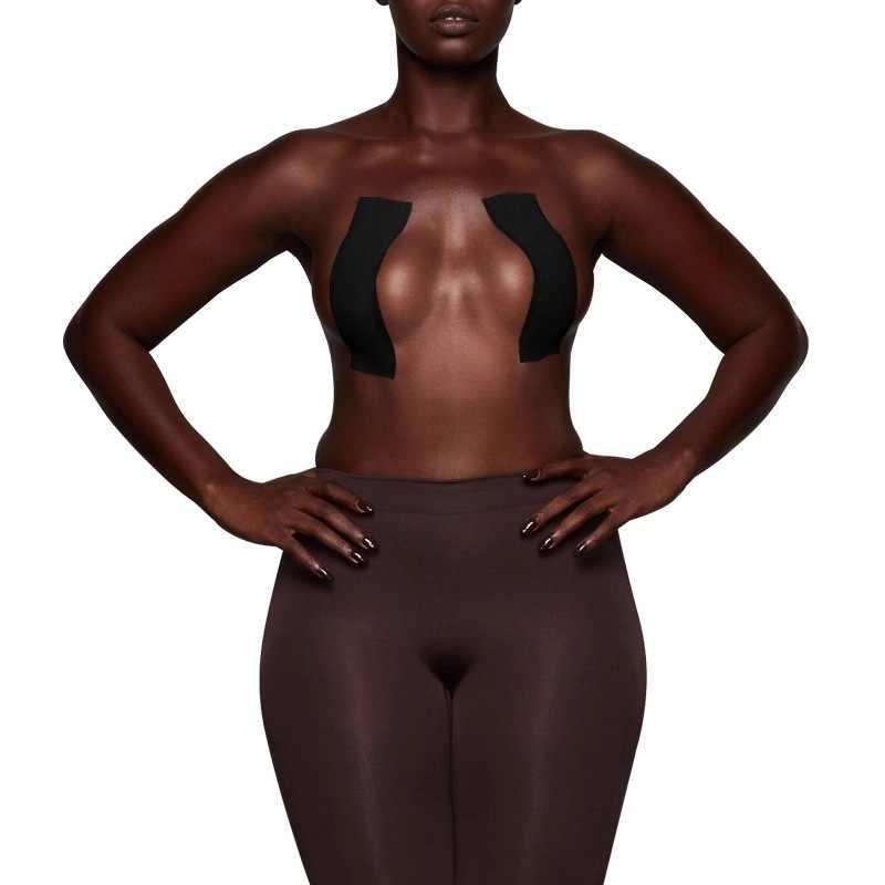 5 متر لاصق حمالات الصدر العشير مثير Bralette المعتوه الشريط النساء الثدي غطاء للحلمة رفع البرازيلي الجسم غير مرئية الثدي رفع الشريط