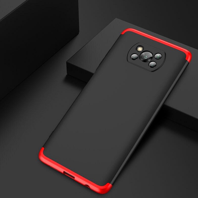 Чехол POCO X3 с полной защитой на 360 градусов, жесткий матовый ударопрочный защитный чехол для Xiaomi POCO X3 NFC глобальная версия