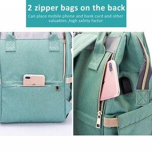 Image 5 - USB Baby Diaper Bags Large Nappy Baby Bag Upgrade Fashion Waterproof Mummy Bag Maternity Travel Backpack Nursing Handbag for Mom