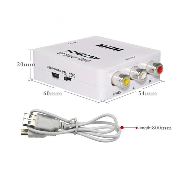 DZLST konwerter HDMI na AV skaler HD konwerter wideo HDMI na RCA AV/CVSB L/R wideo 1080P HDMI2AV podpórka ntsc pal hurtownia