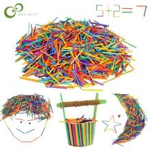 1000 шт цветные Matchstick деревянные палочки для детского сада ручной материал креативные деревянные поделки декупаж деревянные украшения GYH