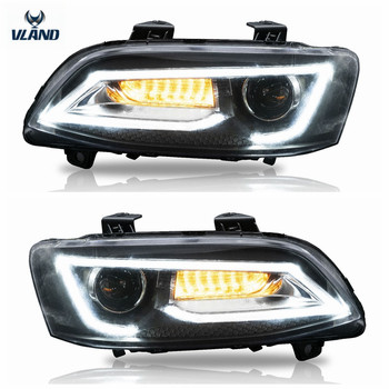 VLAND manufacturer for Car accessories for VE S1&S2 LED Headlight 2006-2013 with LED DRL moving turn signal xenon project