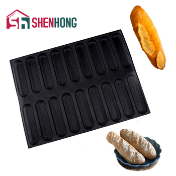 SHENHONG Silicone Glass Fiber Baguette Perforated Bread Mold Long Loaf Baking Perfored Pan Hamburger Mould Pastry Tart Tray