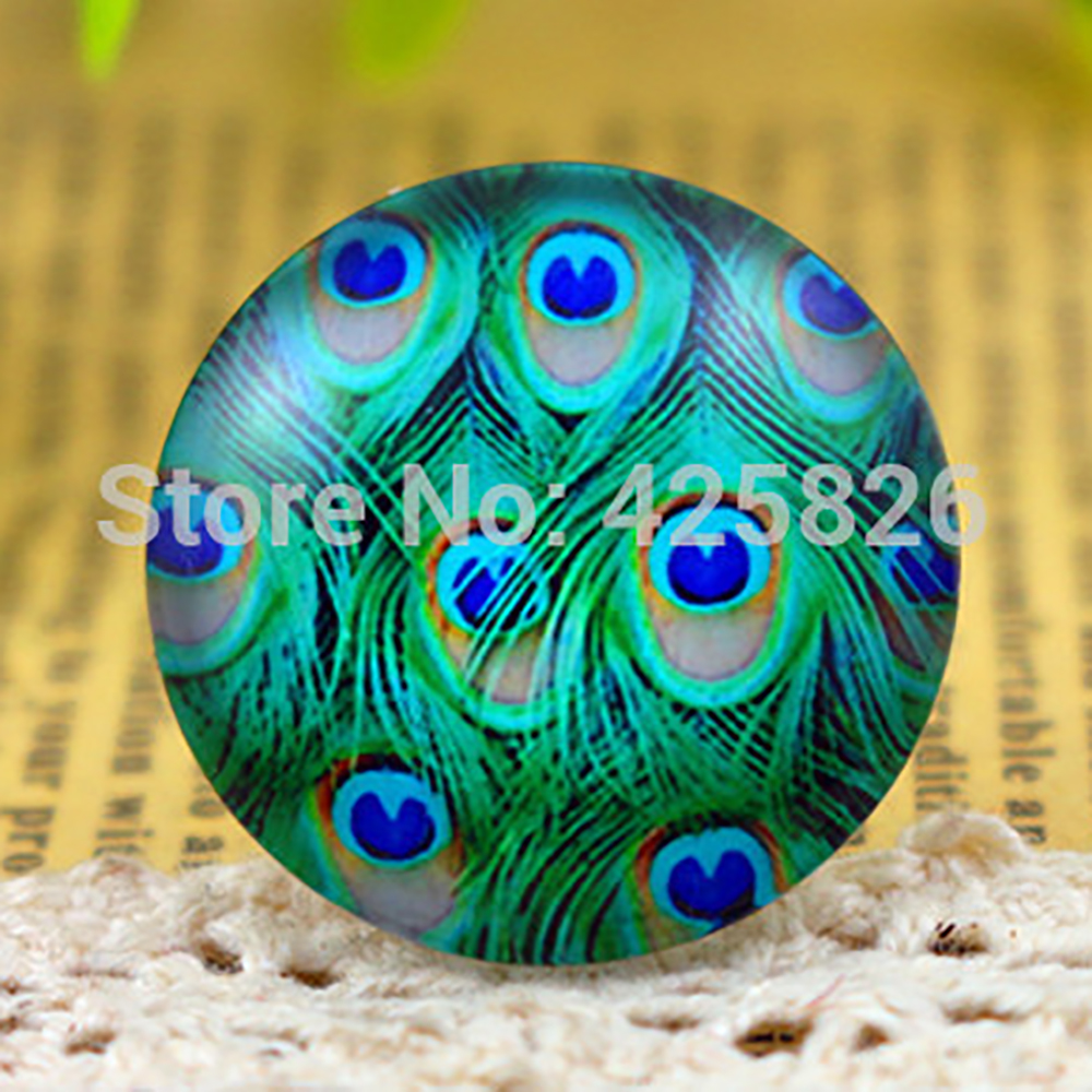 Hot Sale 5pcs/Lot 25mm Handmade Photo Glass Cabochons (Color Patterns)  F3-06