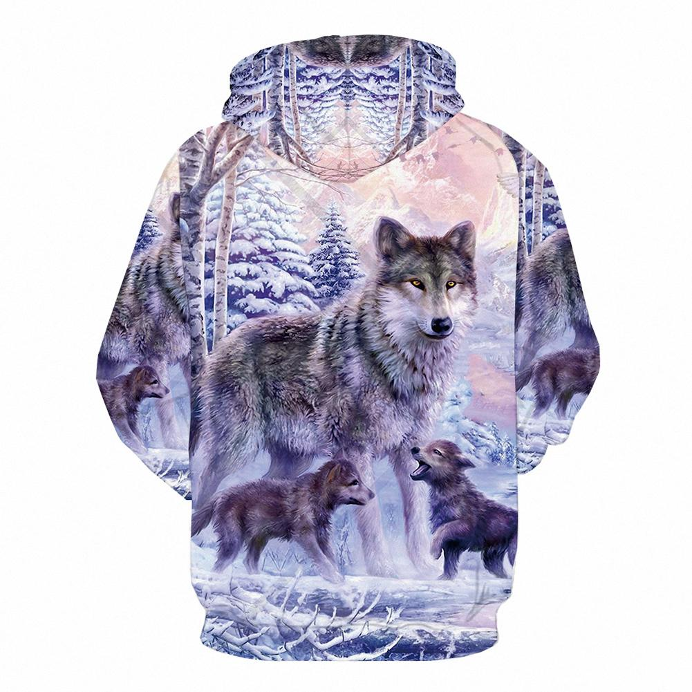 Wolf Printed Hoodies Men 3D Hoodies Brand Sweatshirts Fashion Tracksuits  And Retail Free Transportation  Winter Men's Clothing