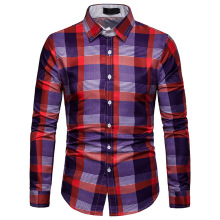 Plaid Shirts, Mens Long-sleeved Shirts,Japanese Streetwear Long Sleeve Shirt Men Dress Shirts