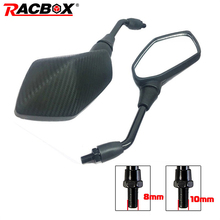 carbon fibre color universal 10mm 8mm motocross ATV Off-road dirt pit bike motorbike side mirror moto rearview motorcycle