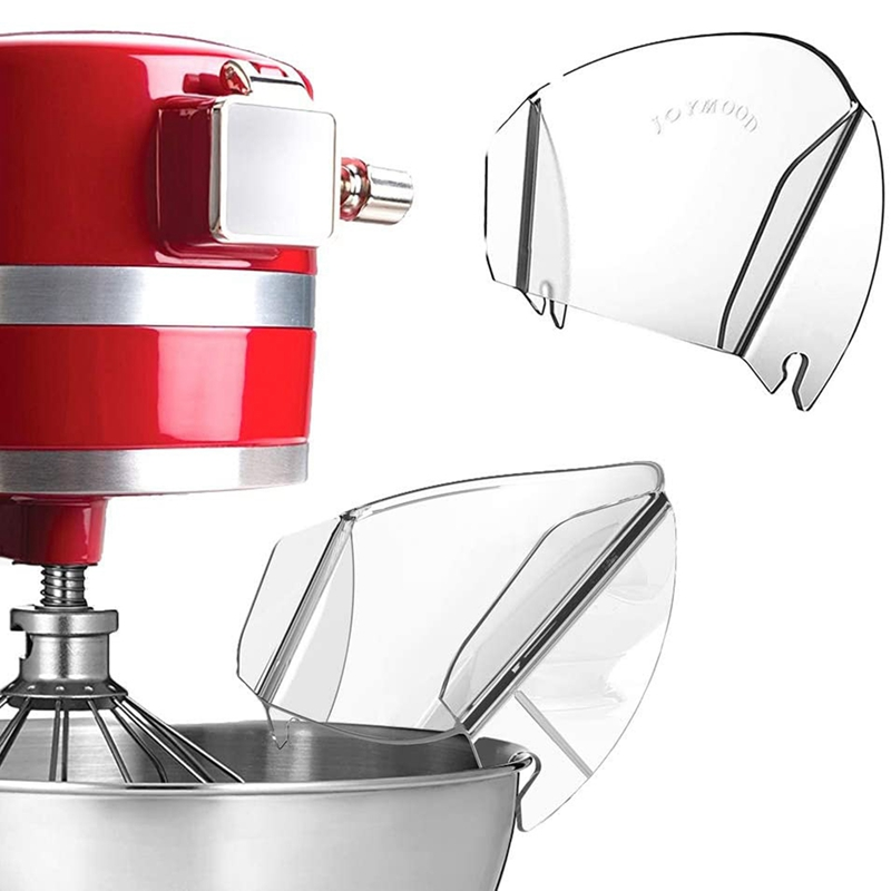 Universal Pouring Shield Chute Mixing Bowl Splash Guard for Stand Mixer Cooking Machine Baffle Oil Splash Proof