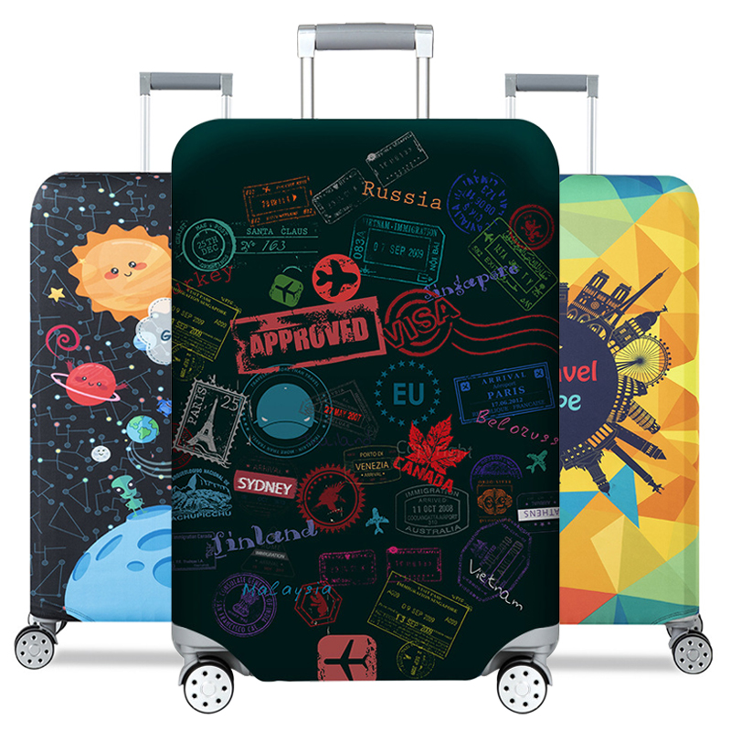 Luggage-Cover Suitcase-Case Protective-Covers Travel-Accessorie Trolley Baggag Elastic
