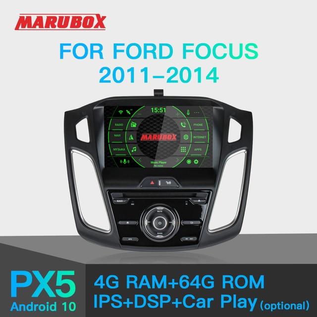 MARUBOX araba radyo Android 10 Ford Focus 3 için 2011 2018 araç DVD oynatıcı oynatıcı GPS navigasyon ses otomatik 8 çekirdek 64G, IPS, DSP KD9019