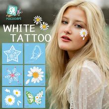 Temporary Tattoo Flower Tatouage Face Body-Art Fake Butterfly Small-Size Waterproof White