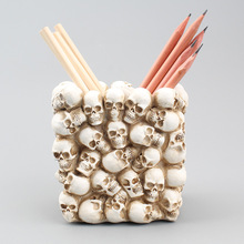 Ornament Storage-Box Office-Organizer Bedroom Household for Figurine Skeleton-Desk Skull-Heads