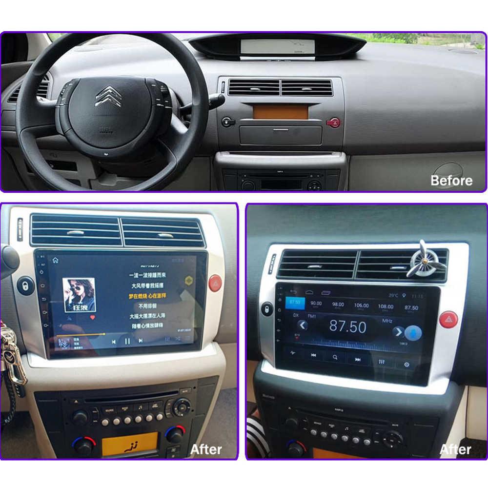 """車 DVD シトロエン C4 C-Triomphe で C-キャトル 2004-2009 マルチメディアプレーヤーアンドロイド 8.1 9"""" サポート iPhone Carplay SWC WiFi BT テレビ RDS"""