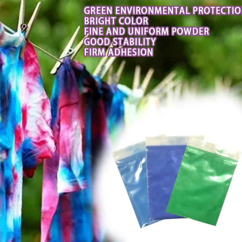 Fabric DIY Tie Dye Kit Powder Color Change Free Cooking Color Reduction Dye For Fabric Clothes Suit Dye Fabric Decorating