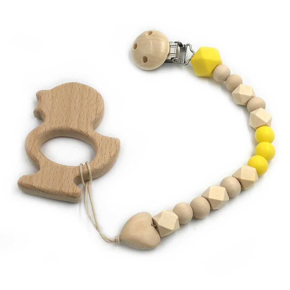 wooden yellow chick toy