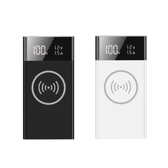 6x18650 Batterie DIY Qi Drahtlose Ladegerät QC3.0 USB Typ C PD Power Bank Box Fall X6HA
