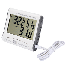 1pc LCD Digital Wireless Indoor Outdoor Thermometer Hygrometer Gauge Humidity Meter New