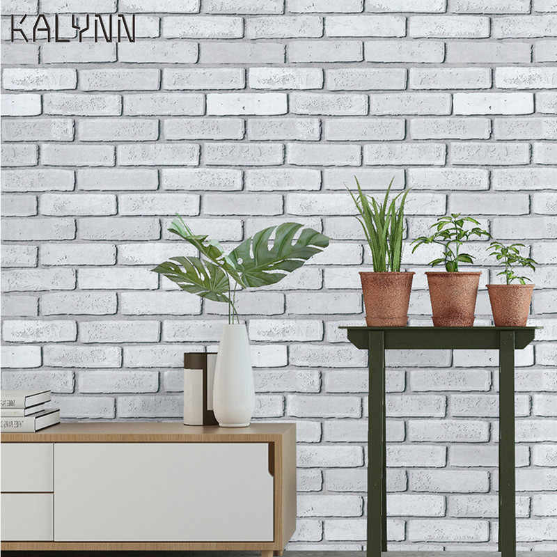 White Brick Wallpaper Peel And Stick Wall Paper 17 7 X19 7ft Self Adhesive Contact Paper Wall Bedroom Kitchen Cabinet Diy Decor Wallpapers Aliexpress