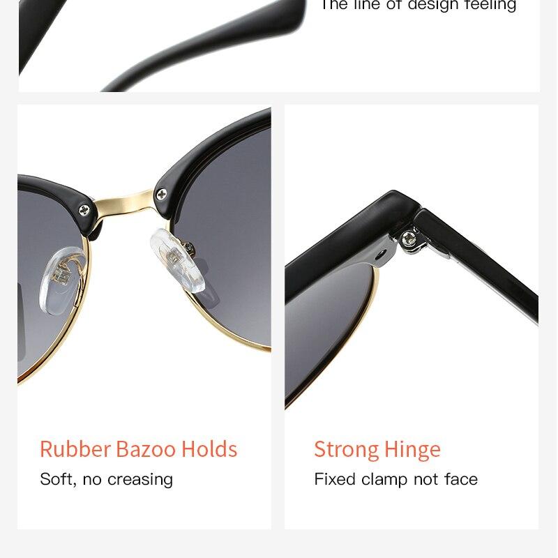 Image 5 - Men Women Sunglasses polarized sunglasses Oculos Large frame Vintage Brand Designer Fashion Men Male Female Sun glasses UV400Womens Sunglasses   -