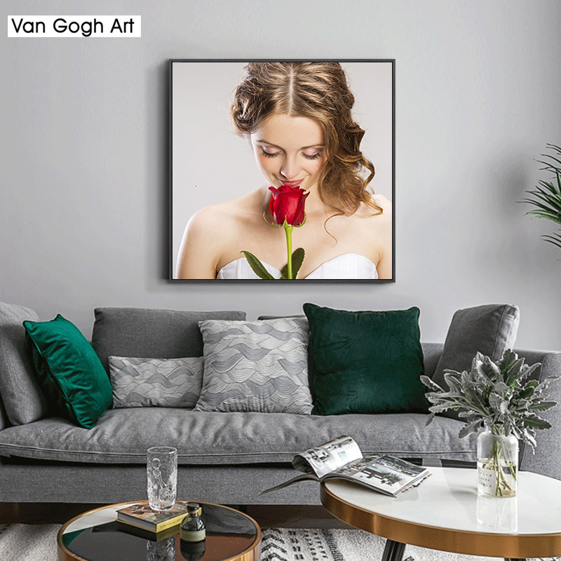 Photo Custom Private Custom 5D DIY Diamond Painting Make Your Own Diamond Painting Full Square Diamond Rhinestone Embroidery in Diamond Painting Cross Stitch from Home Garden