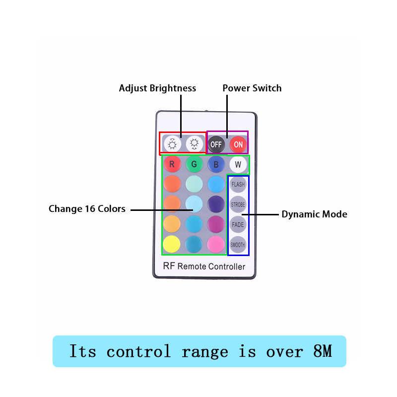 ไฟหน้า Multi-สี RGB LED แองเจิลตา Halo แหวน Eye DRL รีโมทคอนโทรล RF สำหรับ BMW E46 2004- 06 ไฟหน้าโปรเจคเตอร์อุปกรณ์เสริม
