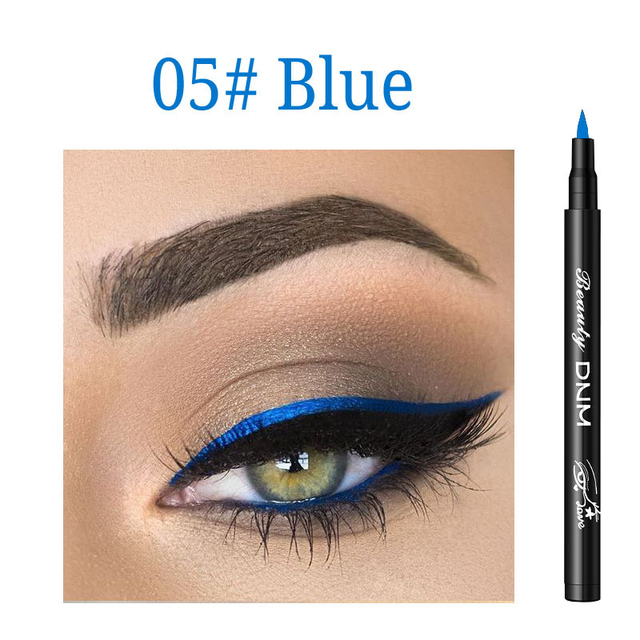Eye Makeup Waterproof Neon Colorful Liquid Eyeliner Pen Make Up Cosmetics Long-lasting Black Eye Liner Pencil Makeup Tools 5